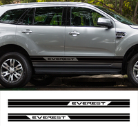2 PC racing side stripe graphic vinyl door panel car sticker for ford everest 2015 2016 SUV accessories