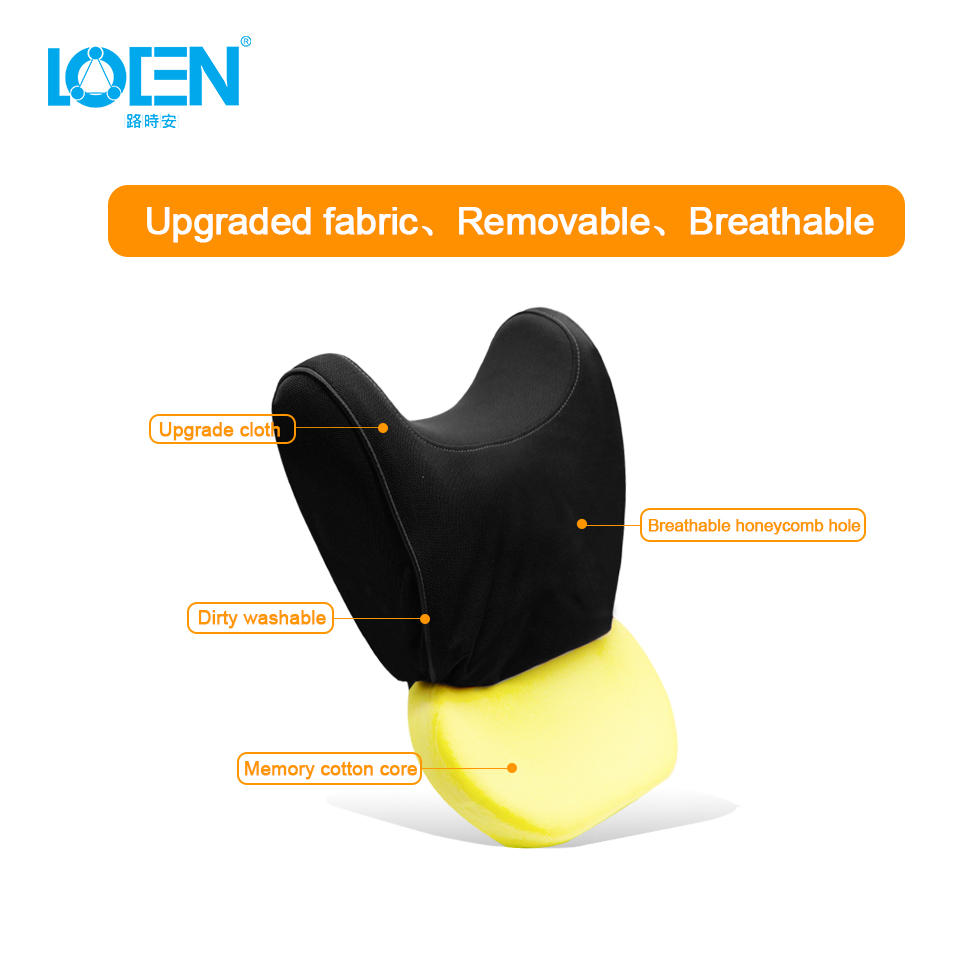 LOEN Car Lumbar Support Pillow and Car Headrest Neck Pillow Kit Car Memory Foam Health Care Lumbar Support Pillow Fit Major Cars in Seat Supports from Automobiles Motorcycles