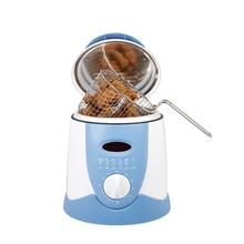 Бездымного многофункциональная сковорода 0.9л Мини электрическая масляная фритюрница печь Картофель фри гриль курица жареная рыба горшок машина ЕС