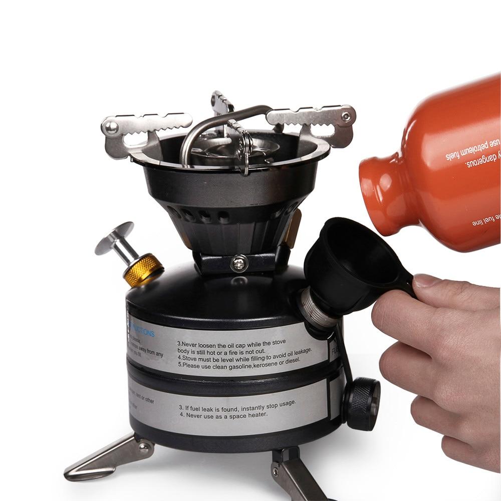 Estufa de queroseno de gasolina portátil quemadores de aceite al aire libre Mini estufa de Camping de combustible líquido