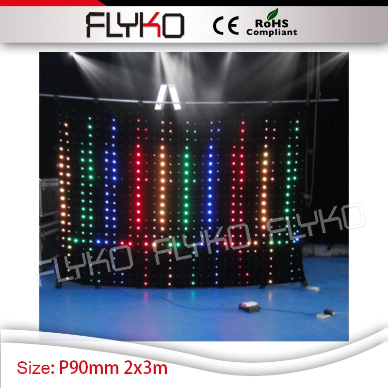 live video led curtain screen xxx photos china P9cm dmx control led lights panel wall 7ft high*10ft width ...