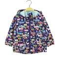 2016 Nuevos niños de los hoodies ropa 2-7 T primavera otoño boys & girls chaquetas con capucha abrigos casual Mano pintada casa ropa de abrigo niños