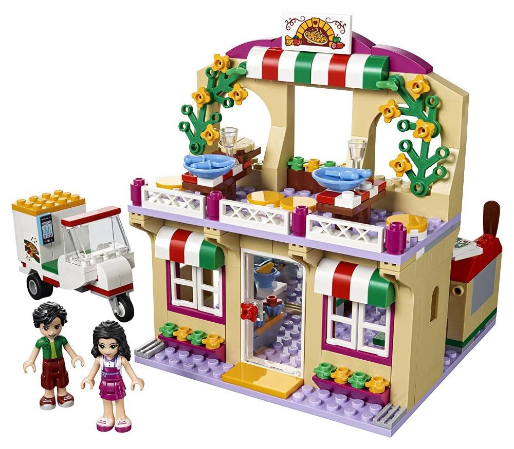 Friends Series Heartlake Pizzeria Building Blocks Classic For Girl Kids Model Toys Marvel Compatible Legoe спот marksojd