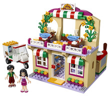 LEPIN Friends Series Heartlake Pizzeria Building Blocks Classic For Girl Kids Model Toys Marvel Compatible Legoe