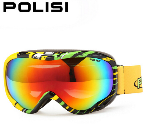 Новый POLISI лыжные очки двойной анти-туман близорукости поляризованный свет Горные лыжи Очки спорта на открытом воздухе