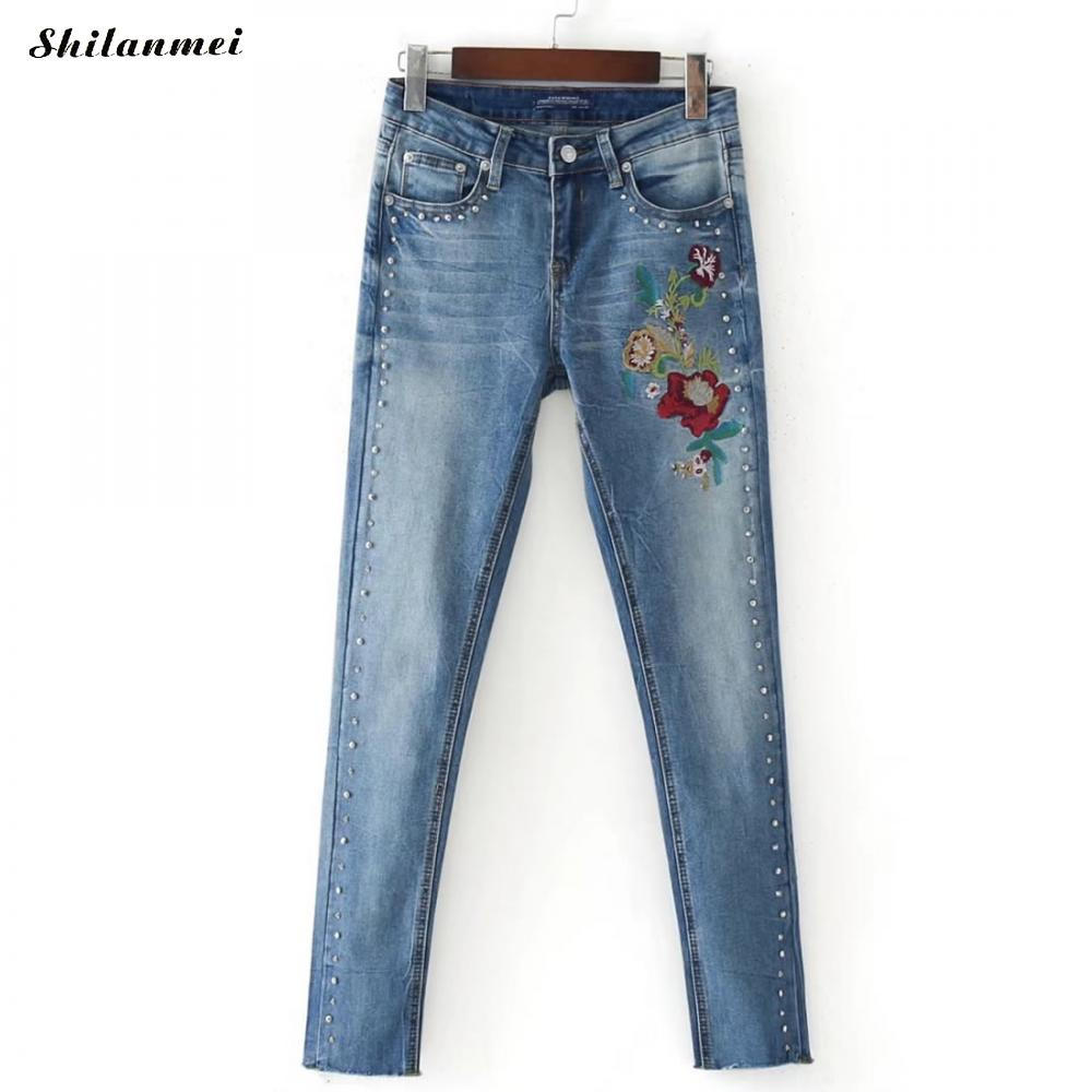 2017 Jeans Womens High Waist Vintage Denim Long Pencil Pants Plus Size Woman Jeans Camisa Feminina Lady Fat Trousers