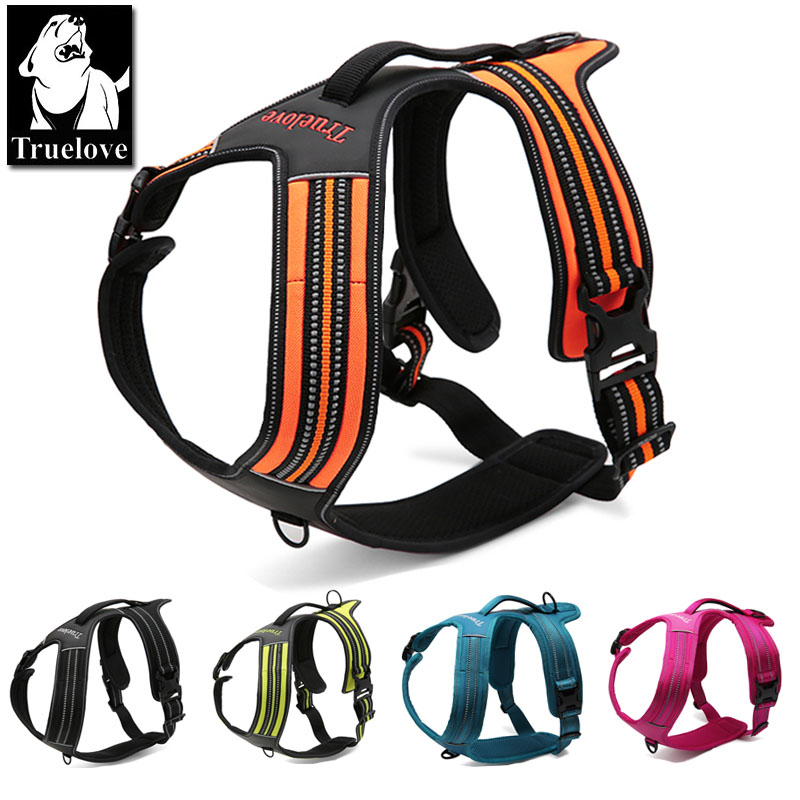Truelove Sport Nylon Reflective No Pull Dog Harness Outdoor Adventure Pet Vest with Handle xs to xl 5 colors in stock factory