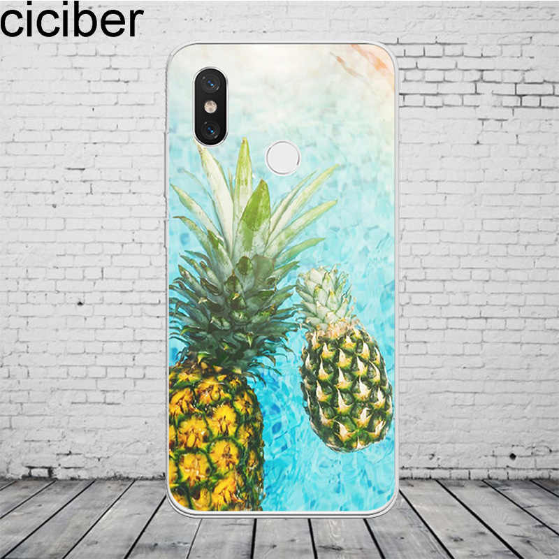 ciciber Pineapple Feather Cover For Xiaomi MIX MAX 3 2 1 S Pro MI A2 A1 9 8 6 5 X 5C 5S Plus Lite SE Pocophone F1 Phone Case TPU
