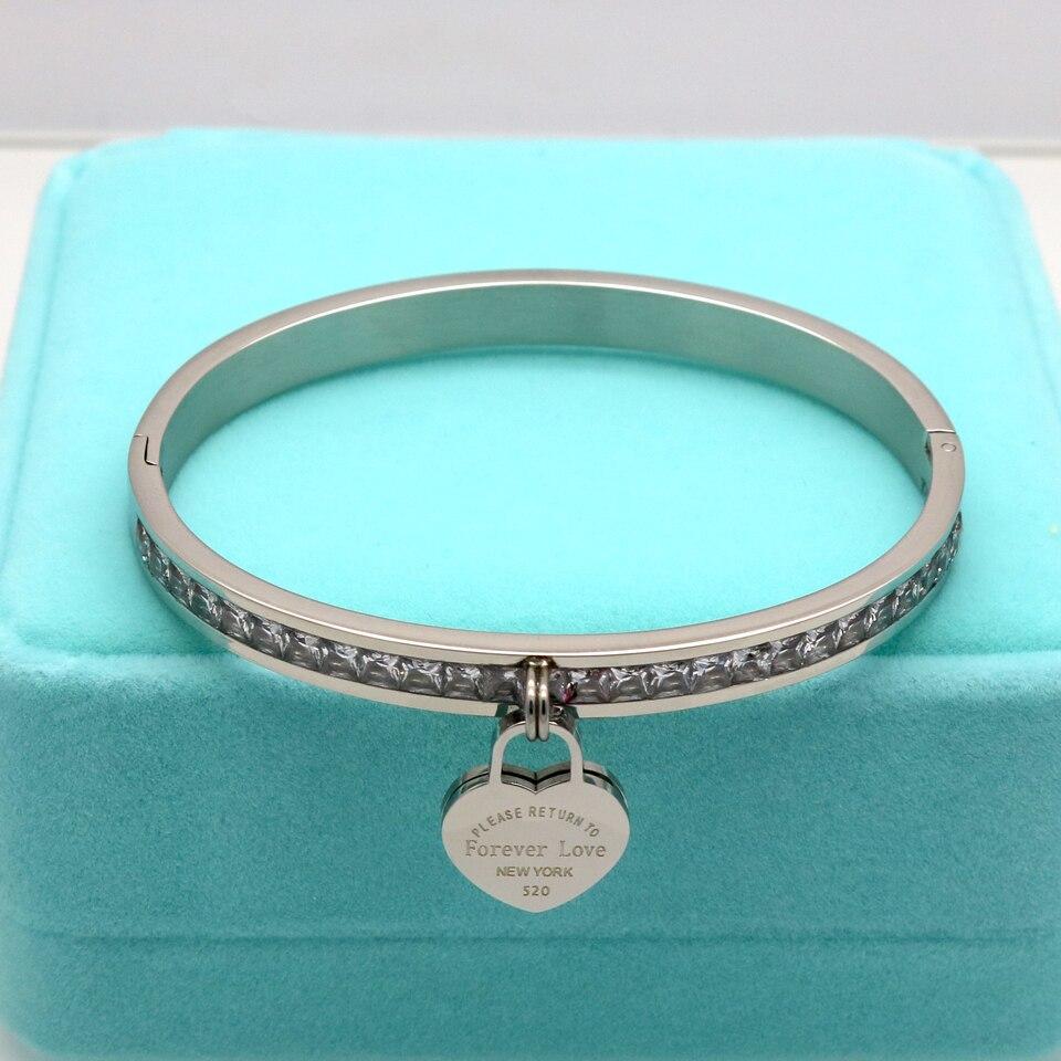 Новая роскошная известная марка ювелирных изделий Pulseira, золотые браслеты из нержавеющей стали с кристаллами, женские браслеты с сердечками и сердечками для женщин