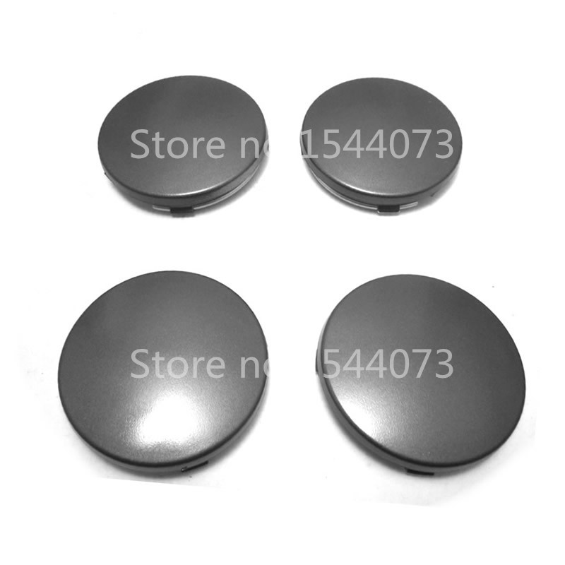 4pcs 60mm For Audi A3 A4 A6 A8 TT,4B0601170 Gray Wheel Center Cap Wheel Hub Caps Rims Cover Car Badge Emblem
