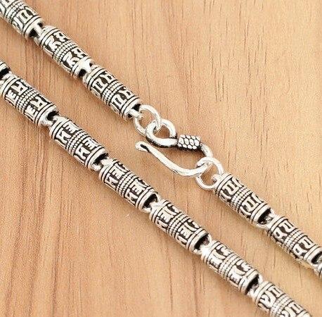 925 collier en argent massif collier ras du cou bijoux Onyx noir 925 timbre chaîne en argent bijoux pour hommes grand collier corps collier 70 cm