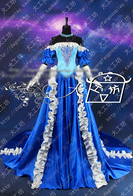 Puella Magi Madoka Magica Sayaka Miki Vinage Gorgeous Party Dress Cosplay Costume Halloween Uniform Outfit Custom-made