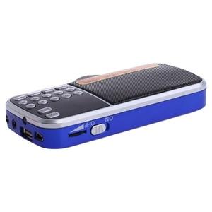 Image 3 - נטענת נייד מיני דיגיטלי סטריאו FM רדיו רמקול מוסיקה נגן עם TF כרטיס USB AUX קלט עם תצוגה ופנס