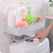 New PP plastic suction cup cosmetic storage rack toothbrush holder for bathroom organization storage wall shelf