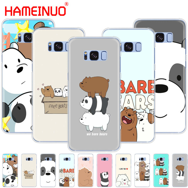 promo code b65ac de9ee US $1.64 34% OFF|HAMEINUO we bare bears cell phone case cover for Samsung  Galaxy S9 S7 edge PLUS S8 S6 S5 S4 S3 MINI-in Half-wrapped Cases from ...