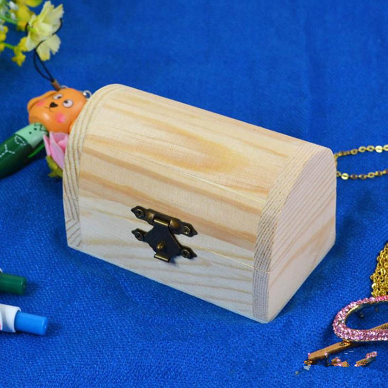 Wood Small Wooden Box With Lid and Lock Jewerally Storage Box Wedding Table Gift Box F20173291 ...