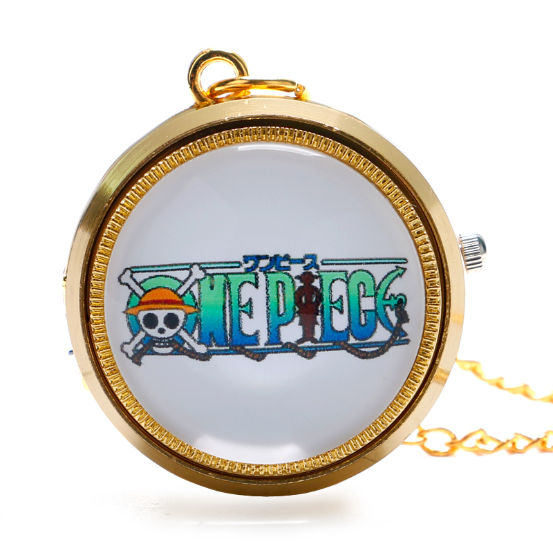 Mini Trendy Cool One Piece Golden Pocket Watch Chain Men Modern Hot Quartz Fob Clock Kids Gift for Christmas P1052