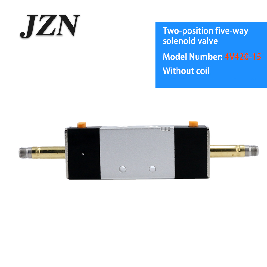 Free shipping ( 1 PCS ) 4V420-15 solenoid pneumatic valve cylinder commutation control double coil two five-way