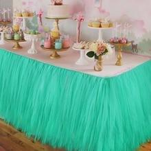 5 teile/los Hochzeit Tabelle Röcke Tüll Tutu Table Rock für Hochzeit Dekoration Lieferungen Party Tischdekoration Zubehör