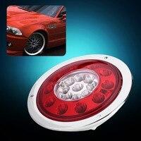 1 Pair 12V 24V LED Side Lamp 24LED Side Lights Tail Light Lamp For Car Trailer