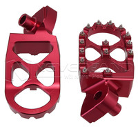 High Quality Racing Foot Pegs Red Motorcycle Foot Rests 57mm WIDE For Yamaha WR450F WR250F YZ450F