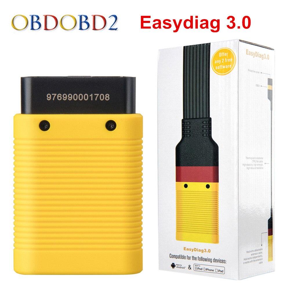 Оригинал старта X431 EasyDiag 3,0 Bluetooth OBD2 инструмент диагностики Easydiag 3,0 плюс Поддержка Android лучше, чем Easydiag 2,0