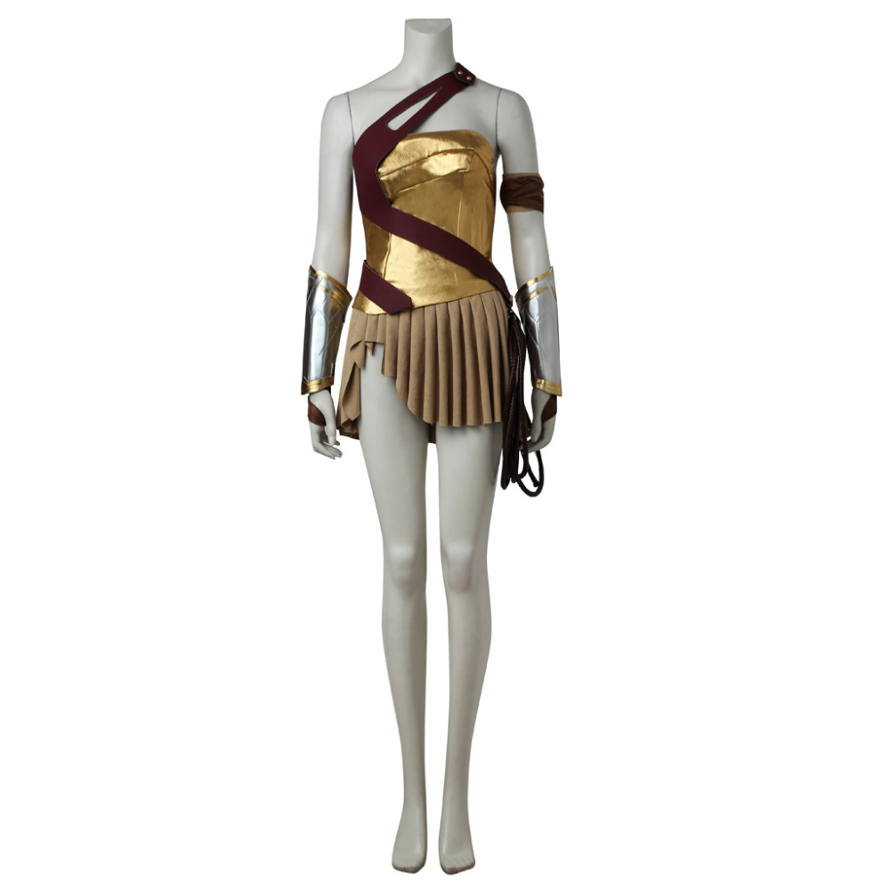 Wonder Woman Diana Prince Costume Women Girls Carnival -8423
