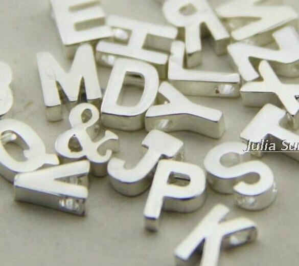 Slide alphabet bead,quality Copper slide charms ,uppercase letter