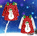 Niñas bebés Vestidos Niños de Manga Larga Arco de Punto de Navidad Muñeco de nieve de Invierno Vestido 2 ~ 7Y