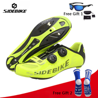Sidebike Carbon Ultralight Cycling Shoes Self Lock Racing Athletic Road Bike Bicycle Riding Shoes zapatillas hombre ciclismo