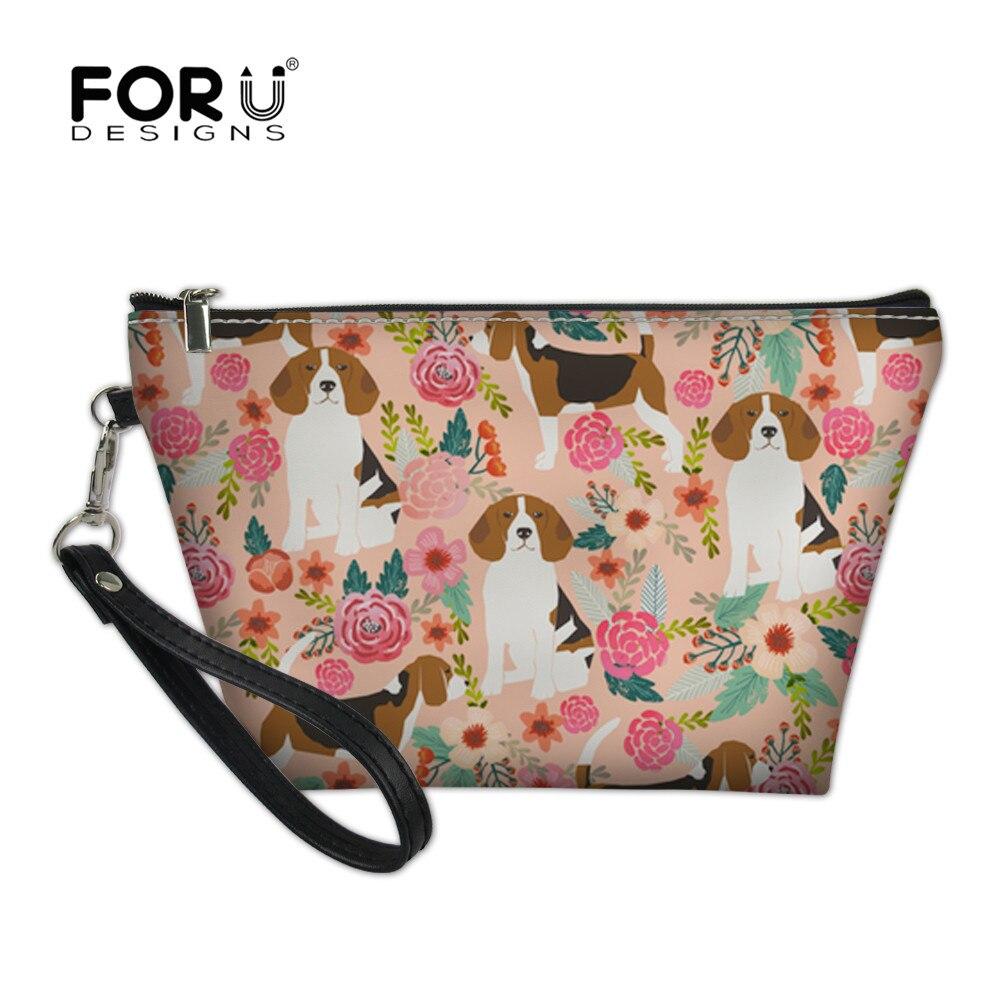 adc2d1f0bfef US $8.05 38% OFF|Aliexpress.com : Buy FORUDESIGNS Women Cosmetic Bag  Beagles Pet Dog Design Lady Small Zipper Portable Travel Organizer Makeup  Case ...
