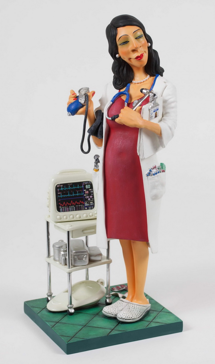 French Master of Humorous Art Female Doctor Desktop Decorative Sculpture Collection Gift Exquisite Art Export Good StatueFrench Master of Humorous Art Female Doctor Desktop Decorative Sculpture Collection Gift Exquisite Art Export Good Statue