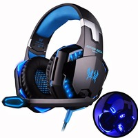 KOTION EACH Gaming Headset Game Headphones Deep Bass Stereo Earphone With LED Light Microphone Mic For