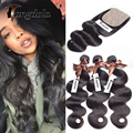 Brazilian Body Wave Silk Base Closure With Bundles Mink Brazilian Silk Closure With Bundles 8a Grade Virgin Unprocessed Human