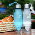 Lemon cup water bottle 650ml multi color H2O drink more water drinking bottle protein brief creative Water sports Free Shipping