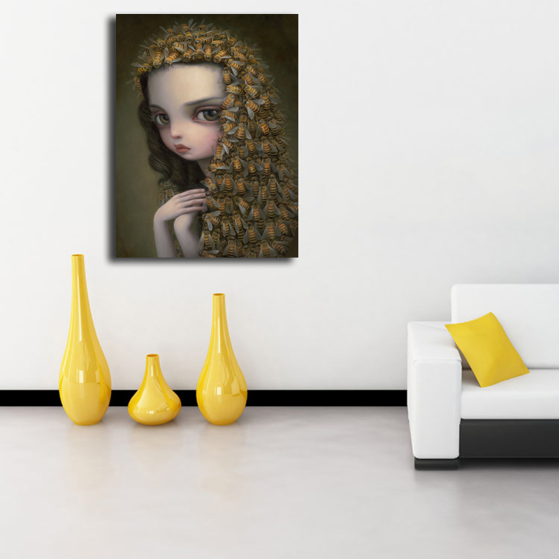 Mark Ryden Queen Bee Wall Art Canvas Poster And Print Canvas Painting Decorative Picture For Office Bedroom Home Decor Framework in Painting Calligraphy from Home Garden