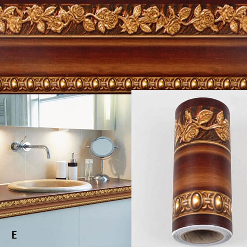 Incroyable 10*400cm Bathroom Wallpaper Waterproof Waistline Wall Stickers Kitchen  Toliet Wall Paper Border Wall Foot
