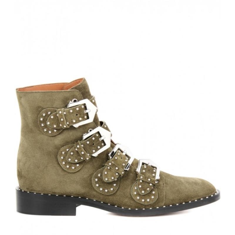 Boucle Combat As Rivets Sangle 2018 Luxe Rouge Militaire as Picture Bottes Cowboy De Designer Court Femmes Clouté Picture Cheville Chaussures 6ww7qaZt