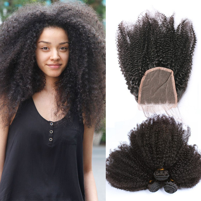 Online shop mongolian afro kinky curly hair with closure human mongolian afro kinky curly hair with closure human hair weave 3 bundle with closure kinky curly virgin hair with closure hairnet pmusecretfo Image collections