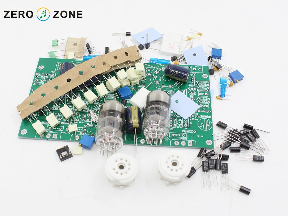 GZLOZONE KHD-1000 Headphone/ Desktop Amplifier Direct Coupling AMP Kit EH-6922 Tube Amplifier Kit