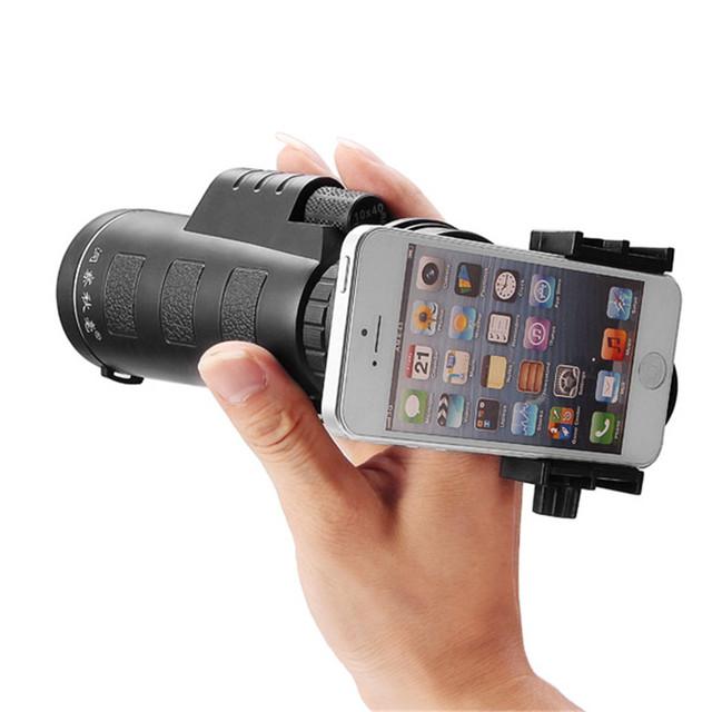 Alta Calidad Universal 10x40 Senderismo Concierto Lente Zoom de la Cámara Lente de La Cámara Del Telescopio Del Teléfono Soporte para Teléfono Para Smartphone