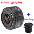 Yongnuo 35mm lens YN35mm F2 lens Wide-angle Large Aperture Fixed Auto Focus Lens For canon EF Mount EOS Camera can be choose bag
