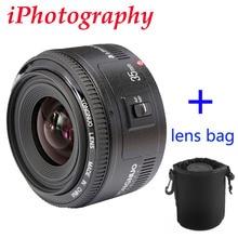 Yongnuo 35 мм объектив YN35mm F2 объектив широкоугольный Большой Апертурой Исправлена фокус Объектива Для canon EF Маунт EOS Камеры можно выбрать мешок