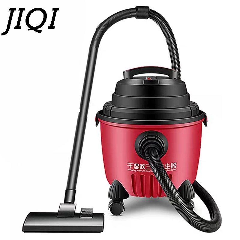JIQI High Power Vacuum cleaners handheld 1200W Wet and Dry suction sweepter carpet-barrel 15L cleaning machine 220V EU jiqi vacuum cleaner household handheld wet and dry blow large power ultra strong silent barrel type 15l large capacity