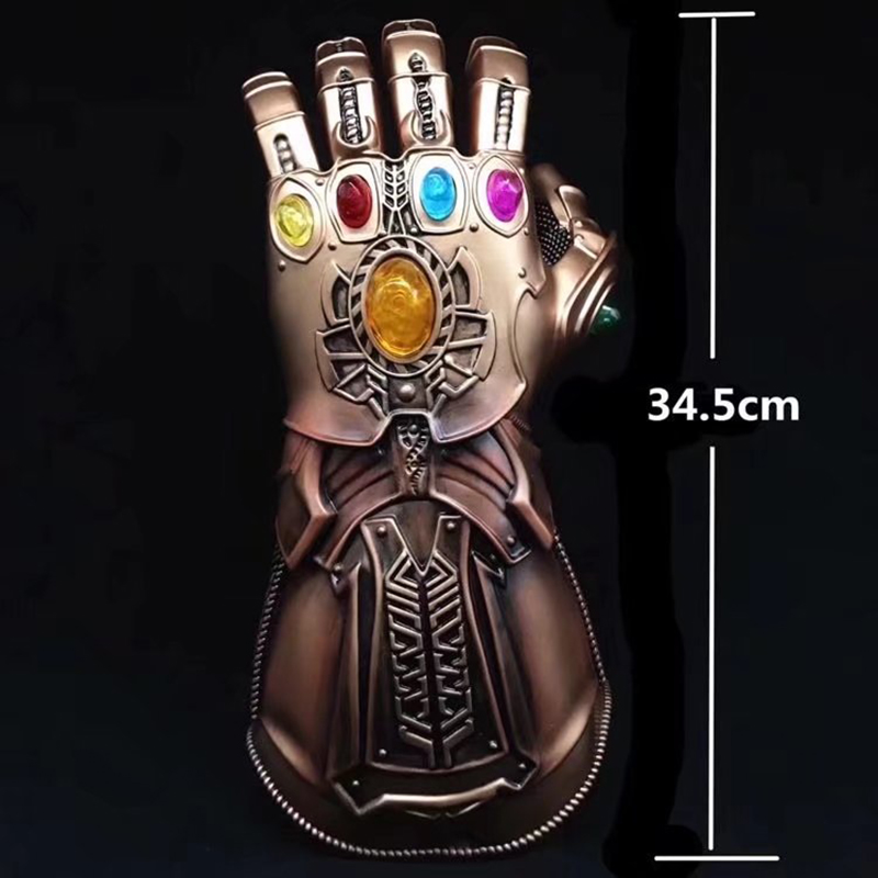 Marvel Avengers Infinity War Thanos Gauntlet Action Figures Cosplay Superhero Iron Man Anime Avengers Thanos Glove 1 1 the avengers iron man updated gauntlet glove led light left right hand new with retail box