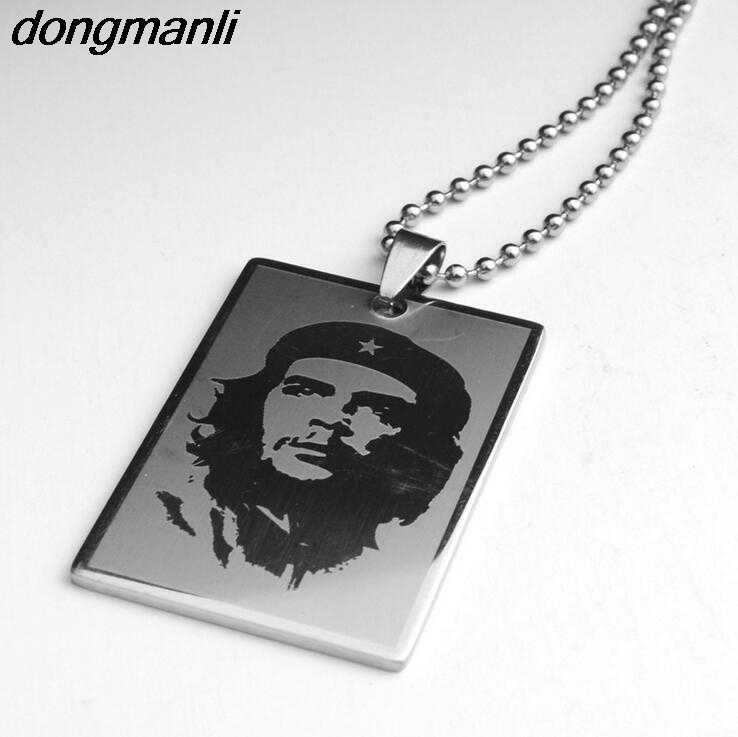 P869 Dongmanli Jewelry Ernesto Che Guevara Necklace World famous Series Stainless Steel Dog Tag Pendant Beaded Chain Classic