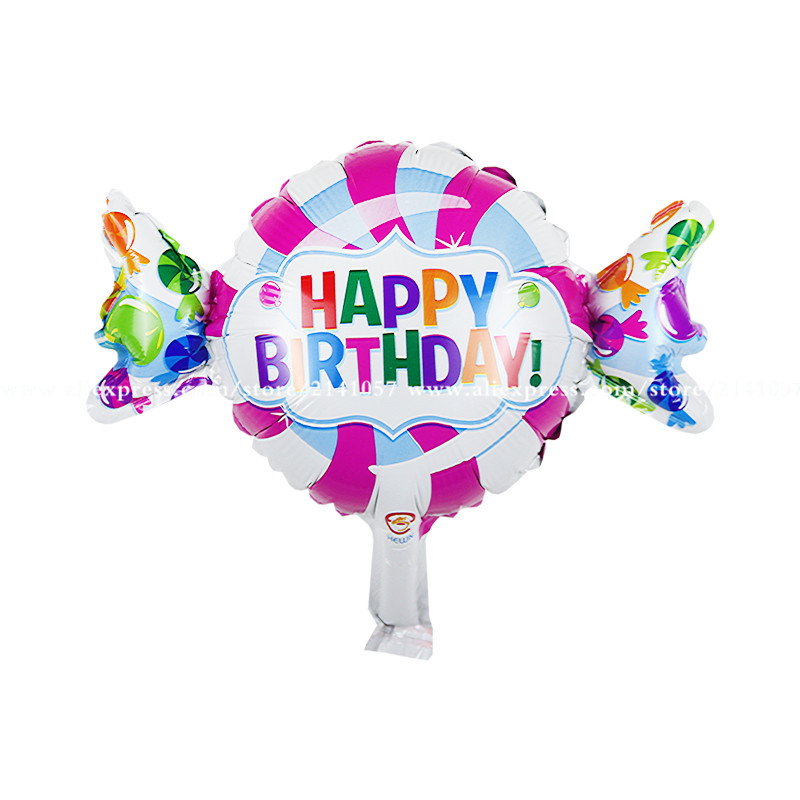 10pcs/lot New Mini Candy Happy Birthday Balloons Kids birthday balloons