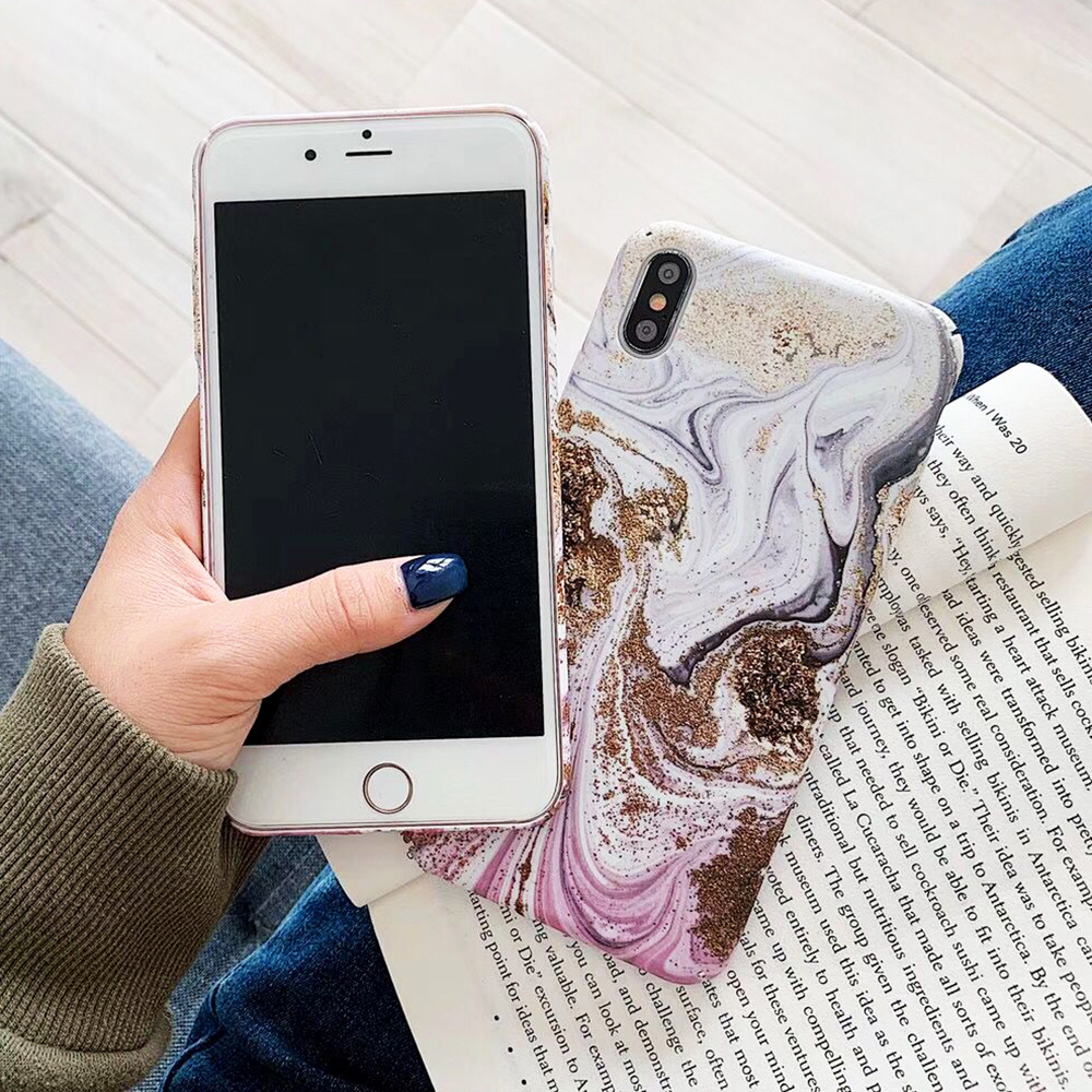 KIPX1093_5_JONSNOW Marble Pattern Phone Case for iPhone XS XR XS Max 7 8 Plus 6S 6 Plus Case Fashion All-inclusive PC Hard Back Cover Capa Fundas
