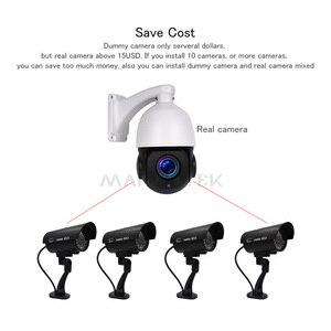 Image 4 - Manequim falso câmera externa de vigilância, bala à prova d água, interior de casa, vídeo cctv, câmera com pisca, vermelho, led