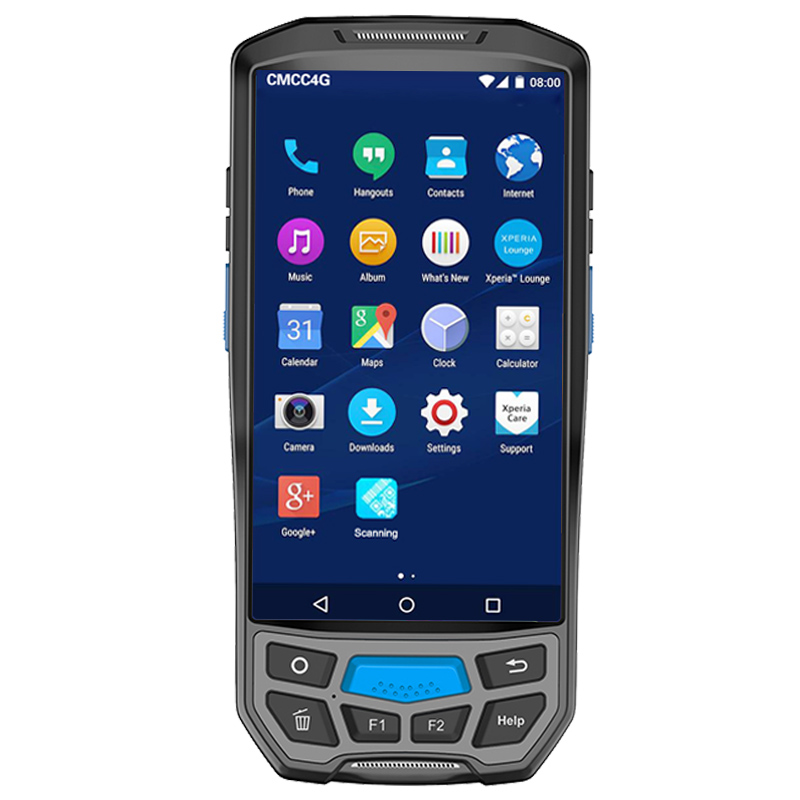 2018 rugged pda 5inch large screen android7.0 nfc laser quick scanner bar qr code scanne ...